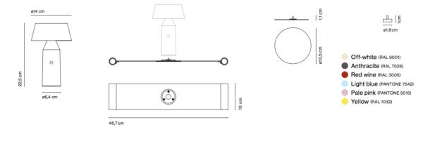 Tisch Leseleuchte mit Magnet Maße