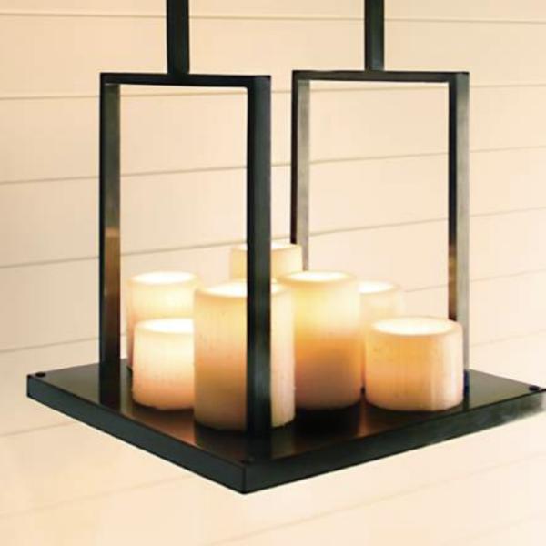 Harmonische Decken Hängeleuchte Kerzenoptik Bronze