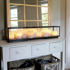 Harmonische Sideboard Tischleuchte Kerzenoptik