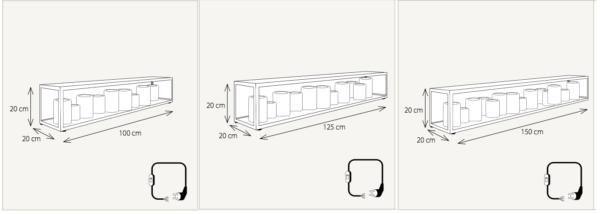 Harmonische Sideboard Tischleuchte Kerzenoptik Maße