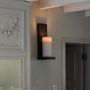 Harmonische Wandleuchte Kerzenoptik mit Schalter