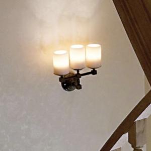 Harmonische Wandleuchte dreifach Kerzenoptik