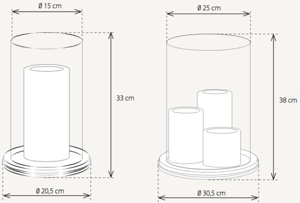Maße der Harmonische Bodenleuchte Bronze klein