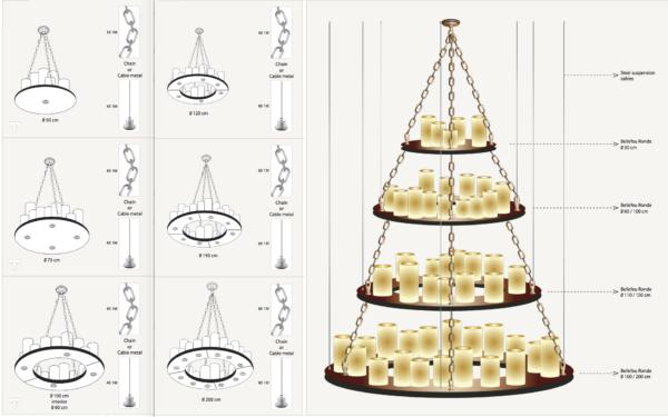 Viele Möglichkeiten der harmonischen runden Decken Hängeleuchte Bronze