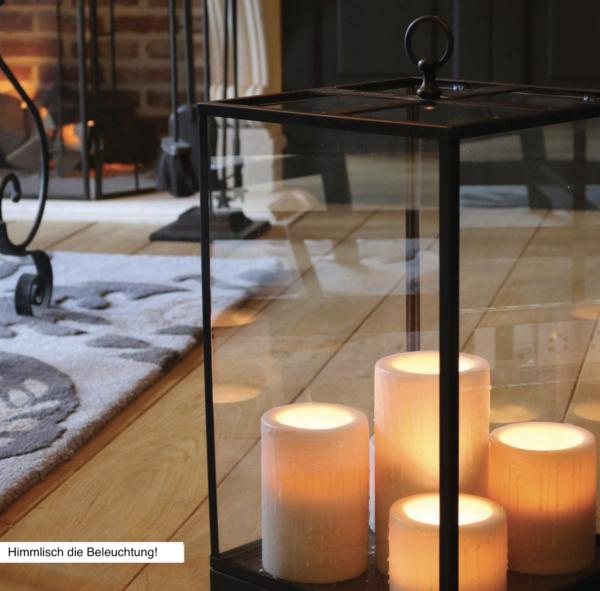 Wunderschöne harmonische Bodenleuchte Bronze Kerzenoptik